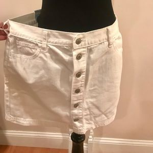 Old Navy white denim mini
